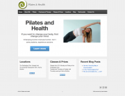 Pilates and Health simple word press website Josh Hamit simple wordpress website